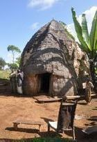 Typical hut of the Dorze people near Chencha