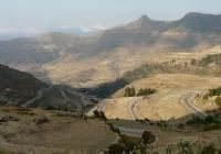 On the road in northern Ethiopia from Mekelle to Lalibela